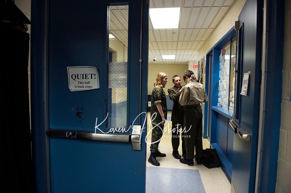 "Gilford High School Performing Arts presents ""A Few Good Men.  Karen Bobotas for the Laconia Daily Sun"