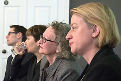 © Licensed to London News Pictures. 24/02/2015. London, UK. (L-R) Darren Hall, PCC for Bristol West, Caroline Lucas, MP for Brighton Pavillion, Jenny Jones AM Baroness Jones of Moulsecoomb, and Natalie Bennet, Leader of the Green Party.  The Green Party Campaign Launch ahead of the UK general election at RSA House in Central London today 24th February 2015. Photo credit : Stephen Simpson/LNP