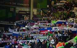 Supporters of Slovenia during EURO 2012 Quaifications game between National teams of Slovenia and Northern Ireland, on March 29, 2011, in Windsor Park Stadium, Belfast, Northern Ireland, United Kingdom. (Photo by Vid Ponikvar / Sportida)