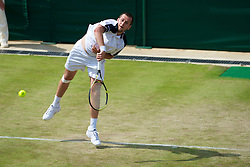 LONDON, ENGLAND - Wednesday, June 23, 2010: Karol Beck (SVK) during the Gentlemen's Singles 2nd Round on day three of the Wimbledon Lawn Tennis Championships at the All England Lawn Tennis and Croquet Club. (Pic by David Rawcliffe/Propaganda)