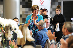Ben Breeze surprises a guest with birthday celebrations in the Heineken Lounge - Mandatory byline: Dougie Allward/JMP - 07966386802 - 20/09/2015 - RUGBY - Ashton Gate -Bristol,England - Bristol Rugby v Nottingham Rugby - Greene King IPA Championship