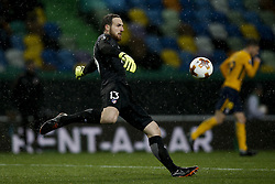 April 12, 2018 - Lisbon, Portugal - Atletico Madrid's goalkeeper Jan Oblak in action during UEFA Europa League quarter-final second leg football match between Sporting CP vs Club Atletico Madrid, in Lisbon, on April 12, 2018. (Credit Image: © Carlos Palma/NurPhoto via ZUMA Press)