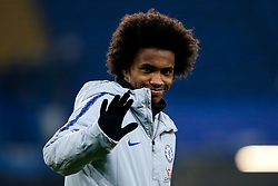 Willian of Chelsea - Mandatory by-line: Robbie Stephenson/JMP - 24/01/2019 - FOOTBALL - Stamford Bridge - London, England - Chelsea v Tottenham Hotspur - Carabao Cup