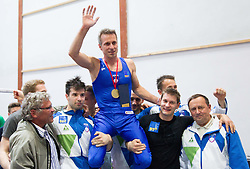 Farewell of Slovenian athlete Aljaz Pegan at his last competition in his sports career during Slovenian Gymastics Cup 2013 on June 2, 2013 in GIB arena, Ljubljana, Slovenia. (Photo By Vid Ponikvar / Sportida)