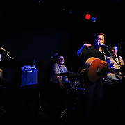 Host Bob Lord and Buffalo Tom band members Bill Janovitz (guitar), Tom Maginnis (Drums) and Chris Colbourn (Bass)