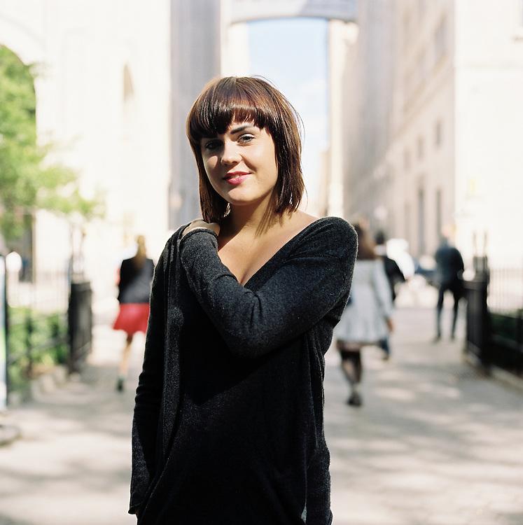 NEW YORK CITY - MAY 11 2011: Norwegian, singer songwriter Elise Vatsvaag in New York City.