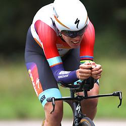 04-09-2015: Wielrennen: Ladiestour: Oosterhout OOSTERHOUT (NED) wielrennen  <br />De vierde etappe was in Oosterhout een gevecht tegen het uurwerk. Ellen van Dijk werd tweede in tijdrit