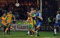 Photo: Ashley Pickering/Sportsbeat Images.<br /> Colchester United v Norwich City. Coca Cola Championship. 15/12/2007.<br /> Danny Granville of Colchester (no. 2) drags Lee Croft of Norwich down in the box but no penalty is awarded