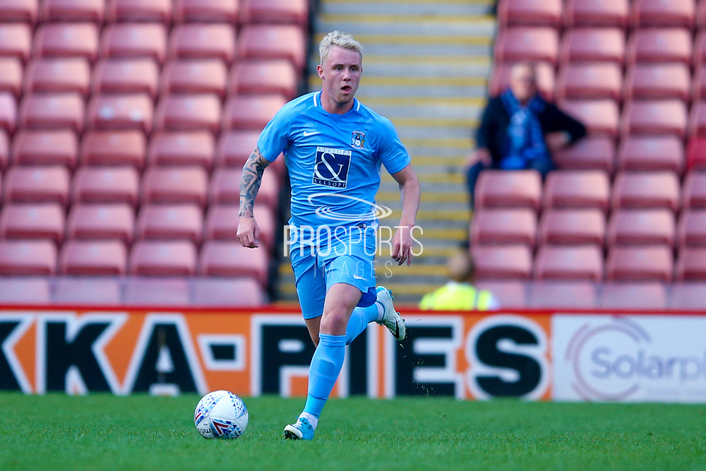 Coventry City defender Jack Gimmer (2) in action  during the Pre-Season Friendly match between Barnsley and Coventry City at Oakwell, Barnsley, England on 18 July 2017. Photo by Simon Davies.