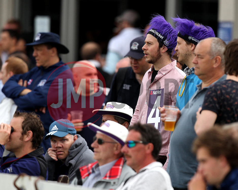 Fans watching Gloucestershire v Sussex in the Natwest T20Blast - Photo mandatory by-line: Robbie Stephenson/JMP - Mobile: 07966 386802 - 26/06/2015 - SPORT - Cricket - Bristol - The County Ground - Gloucestershire v Sussex - Natwest T20 Blast