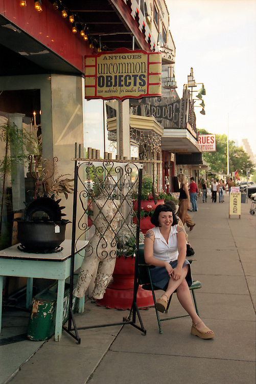Rachel Misiti, employee of Uncommon Objects, Austin, TX