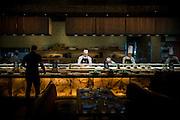 DUBAI, UAE - DECEMBER 18, 2015: Cutting-edge Japanese style buffet with South American influences, at the Nobu Dubai restaurant, Atlantis, The Palm Jumeirah.
