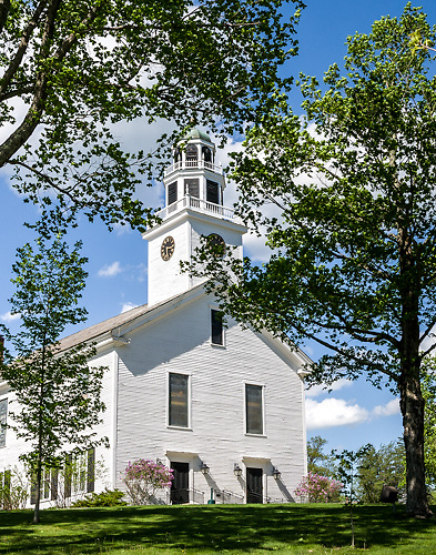 Greenfield New Hampshire Meetinghouse.<br />