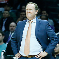 08 January 2018: Atlanta Hawks head coach Mike Budenholzer is seen during the LA Clippers 108-107 victory over the Atlanta Hawks, at the Staples Center, Los Angeles, California, USA.