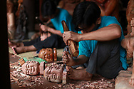 Woodcarving in Hoi An, Vietnam