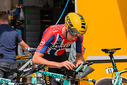Amund Grøndahl Jansen (NOR) of Team Jumbo-Visma (NED,WT,Bianchi) before stage 2 TTT from Bruxelles to Brussel of the 106th Tour de France, 7 July 2019. Photo by Pim Nijland / PelotonPhotos.com | All photos usage must carry mandatory copyright credit (Peloton Photos | Pim Nijland)