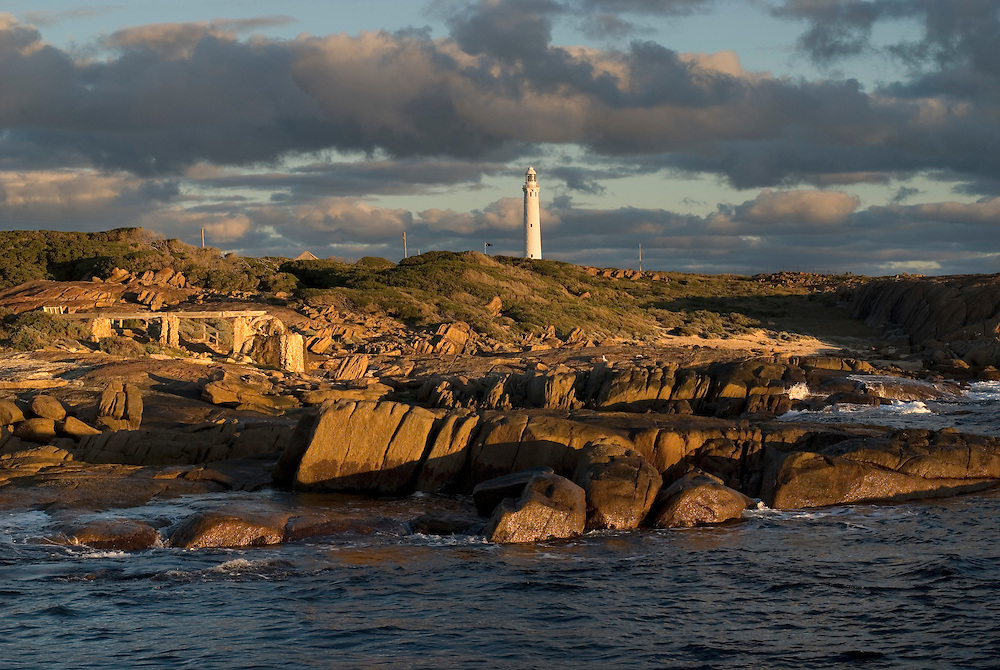 Cape Leeuwin Lighthouse is an historic landmark situated near Augusta at the most south-westerly point of Australia. The lighthouse stands at the exact point where the Indian and Southern Oceans meet.