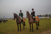MICHAEL LITTLE; GEORGIA WEBB, Heythrop Point to Point. At a  new course at Cocklebarrow near Aldsworth. 11 January 2014