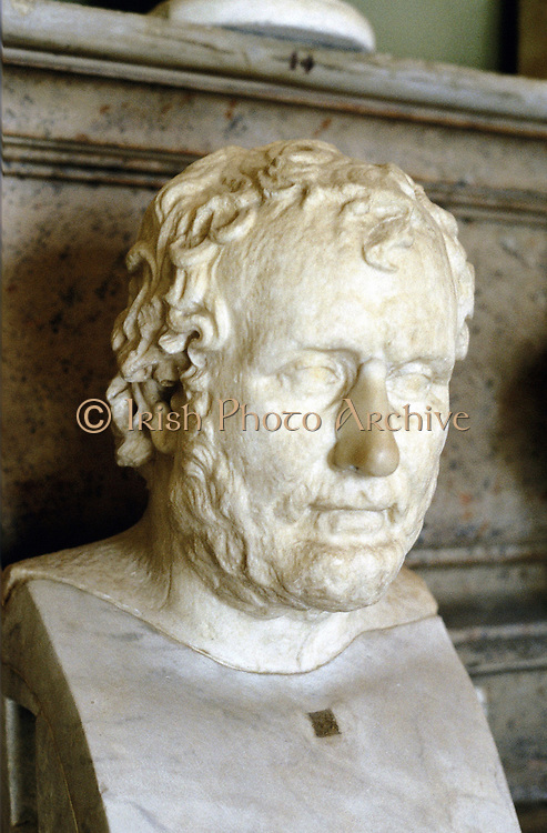 Aeschines or Eschines (c389-314 BC)  Ancient Greek orator, the rival of Demosthenes. Portrait bust.