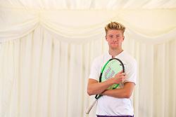 LIVERPOOL, ENGLAND - Saturday, June 23, 2018: Adam Jones (GBR) during day three of the Williams BMW Liverpool International Tennis Tournament 2018 at Aigburth Cricket Club. (Pic by Paul Greenwood/Propaganda)