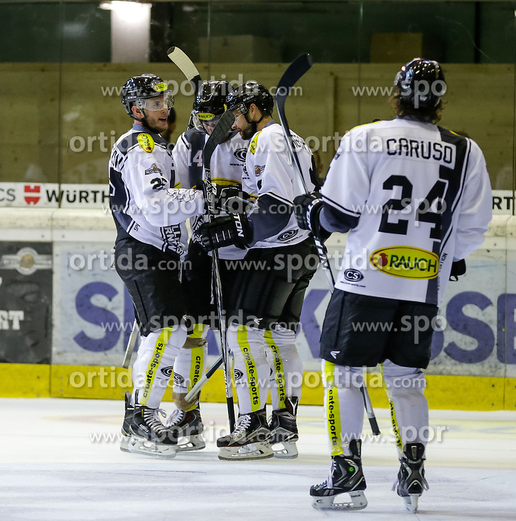30.08.2015, Messestadion, Dornbirn, AUT, EBEL, Testspiel, Dornbirner EC vs SC Riessersee, im Bild Jubel beim Dornbirner EC// during a international Icehockey Friendly Match between Dornbirner EC and SC Riessersee at the Messestadion in Dornbirn, Austria on 2015/03/01, EXPA Pictures © 2015, PhotoCredit: EXPA/ Peter Rinderer