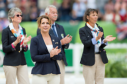 HRH Princess Haya bint Al Hussein - Freestyle Grand Prix Dressage - Alltech FEI World Equestrian Games™ 2014 - Normandy, France.<br /> © Hippo Foto Team - Jon Stroud<br /> 25/06/14
