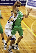 Jonus Turol in action during the NBL basketball match between the Youthtown Auckland Stars and the Manawatu Jets at the ASB Stadium, Auckland, New Zealand on Thursday 5 April 2007. Photo: Hannah Johnston/PHOTOSPORT<br /> <br /> <br /> <br /> 050407