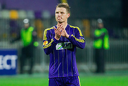 Dare Vrsic #2 of Maribor after the football match between NK Maribor and Sevilla FC (ESP) in 1st Leg of Round of 32 of UEFA Europa League 2014 on February 20, 2014 at Stadium Ljudski vrt, Maribor, Slovenia. Photo by Vid Ponikvar / Sportida
