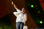 fun. performing at the Global Citizen Festival 2014 in Central Park in New York City on September 27, 2014.