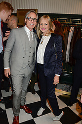 TWIGGY and TOMMY HILFIGER at the Kent and Curwen London Flagship Launch, Saville Row, London on 6th November 2013.