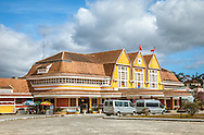 Exterior view of Da Lat train station, Vietnam, Southeast Asia