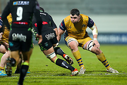 James Phillips of Bristol Rugby in action - Rogan Thomson/JMP - 16/12/2016 - RUGBY UNION - Stade du Hameau - Pau, France - Pau v Bristol Rugby - EPCR Challenge Cup.