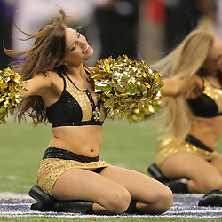 Jan 24, 2010; New Orleans, LA, USA; New Orleans Saints Saintsations cheerleaders perform during a 31-28 overtime victory by the New Orleans Saints over the Minnesota Vikings in the 2010 NFC Championship game at the Louisiana Superdome. Mandatory Credit: Derick E. Hingle-US PRESSWIRE