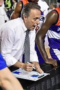 DESCRIZIONE : Campionato 2014/15 Virtus Acea Roma - Enel Brindisi<br /> GIOCATORE : Piero Bucchi<br /> CATEGORIA : Allenatore Coach Time Out<br /> SQUADRA : Enel Brindisi<br /> EVENTO : LegaBasket Serie A Beko 2014/2015<br /> GARA : Virtus Acea Roma - Enel Brindisi<br /> DATA : 19/04/2015<br /> SPORT : Pallacanestro <br /> AUTORE : Agenzia Ciamillo-Castoria/GiulioCiamillo