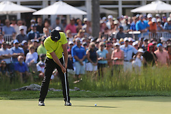 September 2, 2018 - Norton, Massachusetts, United States - Bryson DeChambeau putts the 16th green during the third round of the Dell Technologies Championship. (Credit Image: © Debby Wong/ZUMA Wire)