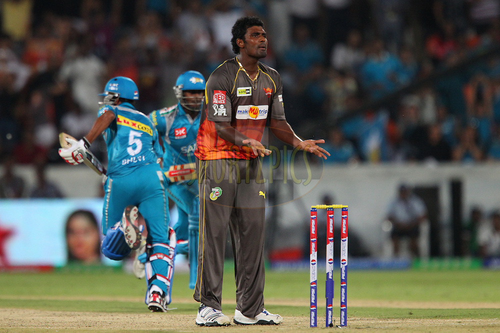 Thisara Perera pleads for the ball during match 3 of of the Pepsi Indian Premier League between The Sunrisers Hyderabad and The Pune Warriors held at the Rajiv Gandhi International  Stadium, Hyderabad  on the 5th April 2013..Photo by Ron Gaunt-IPL-SPORTZPICS..Use of this image is subject to the terms and conditions as outlined by the BCCI. These terms can be found by following this link:..http://www.sportzpics.co.za/image/I0000SoRagM2cIEc