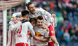 05.03.2016, Red Bull Arena, Salzburg, AUT, 1. FBL, FC Red Bull Salzburg vs SV Groedig, 26. Runde, im Bild Torjubel Red Bulls nach dem 3:0 durch Andreas Ulmer (Red Bull Salzburg), Valentino Lazaro (Red Bull Salzburg), Yasin Pehlivan (Red Bull Salzburg), Valon Berisha (Red Bull Salzburg) // during Austrian Football Bundesliga 26th round Match between FC Red Bull Salzburg and SV Groedig at the Red Bull Arena, Salzburg, Austria on 2016/03/05. EXPA Pictures © 2016, PhotoCredit: EXPA/ JFK
