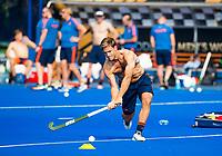 BHUBANESWAR (INDIA) -  Het Nederlands team trainde vanmorgen licht voor de wedstrijd tegen Canada bij het WK Hockey heren. Jeroen Hertzberger (Ned) tijdens de training.  COPYRIGHT  KOEN SUYK