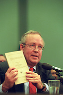 Independent prosecutor Kenneth Starr testifies about President Bill Clinton before the U.S. House Judiciary Committee, November 1998. (© Photo by Roger M. Richards)