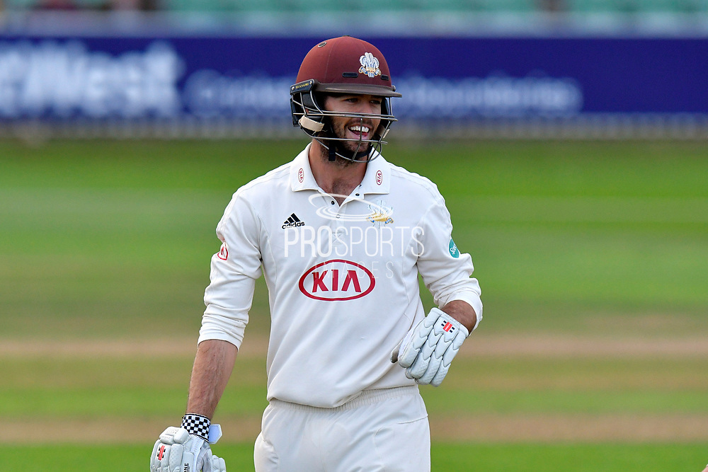 Ben Foakes of Surrey during the opening day of the Specsavers County Champ Div 1 match between Somerset County Cricket Club and Surrey County Cricket Club at the Cooper Associates County Ground, Taunton, United Kingdom on 18 September 2018.