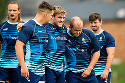 Nick Schonert, Jack Singleton and Callum Black take part in a training session as Worcester Warriors host a Rugby Camp at Malvern College - Mandatory by-line: Robbie Stephenson/JMP - 13/08/2018 - Rugby - Malvern College - Worcester, England - Malvern College Residential Rugby Camp