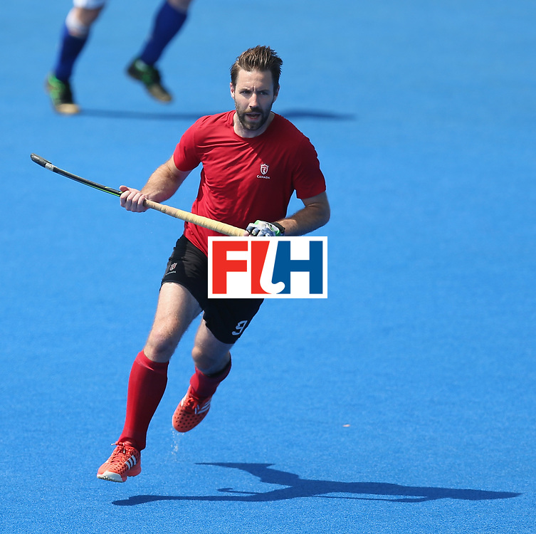 LONDON, ENGLAND - JUNE 20: Richard Hildreth of Canada during the Pool B match between Scotland and Canada on day six of the Hero Hockey World League Semi-Final at Lee Valley Hockey and Tennis Centre on June 20, 2017 in London, England.  (Photo by Alex Morton/Getty Images)