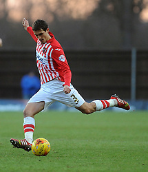Exeter City's Craig Woodman - Photo mandatory by-line: Neil Brookman/JMP - Mobile: 07966 386802 - 24/01/2015 - SPORT - Football - Oxford - Kassam Stadium - Oxford United v Exeter City - Sky Bet League Two