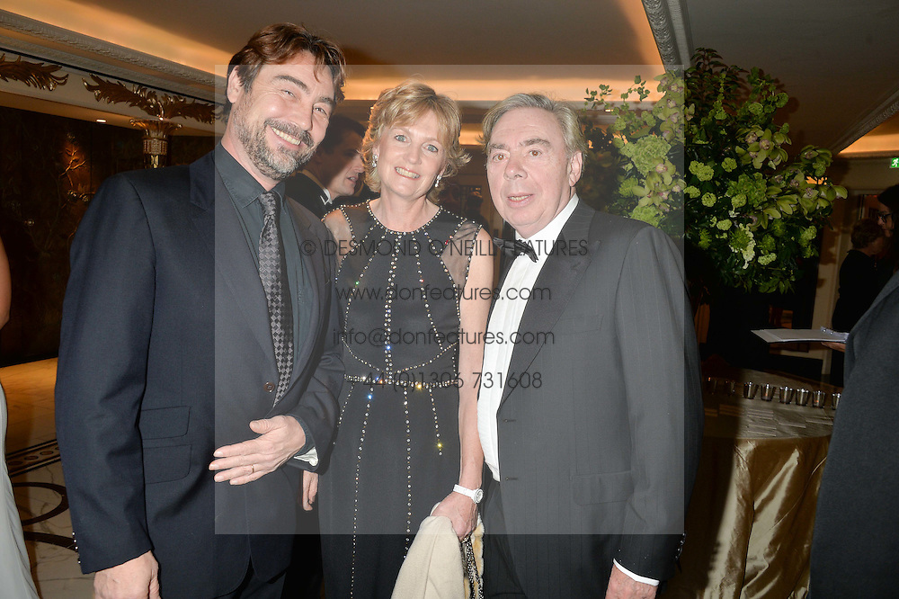 Left to right, NATHANIAL PARKER and LORD & LADY LLOYD-WEBBER at the 24th Cartier Racing Awards held at The Dorchester, Park Lane, London on 11th November 2014.
