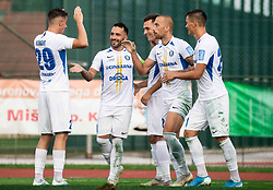 Players of Celje celebrate after scoring during football match between NK Triglav and NK Celje in 7th Round of Prva liga Telekom Slovenije 2019/20, on August 25, 2019 in Sports park, Kranj, Slovenia. Photo by Vid Ponikvar / Sportida