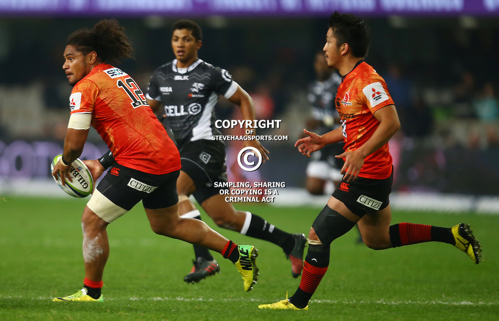 DURBAN, SOUTH AFRICA - JULY 15: Mifiposeti Paea of the Sunwolves during the Super Rugby match between the Cell C Sharks and Sunwolves at Growthpoint Kings Park on July 15, 2016 in Durban, South Africa. (Photo by Steve Haag/Gallo Images)