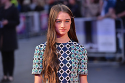 © Licensed to London News Pictures. 12/10/2017. London, UK.  RAFFEY CASSIDY attends the UK film premiere of Killing Of A Sacred Deer showing as part of the 51st BFI London Film Festival. Photo credit: Ray Tang/LNP