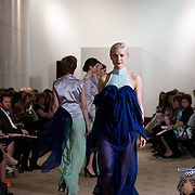 13.05.2016.           <br /> A model showcases designs by Deirbhile Nic Giolla Ghomhail titled 'Circe' at the much anticipated Limerick School of Art & Design, LIT, (LSAD) Graduate Fashion Show on Thursday 12th May 2016. The show took place at the LSAD Gallery where 27 graduates from the largest fashion degree programme in Ireland showcased their creations. Ranked among the world's top 50 fashion colleges, Limerick School of Art and Design is continuing to mold future Irish designers.. Picture: Alan Place/Fusionshooters