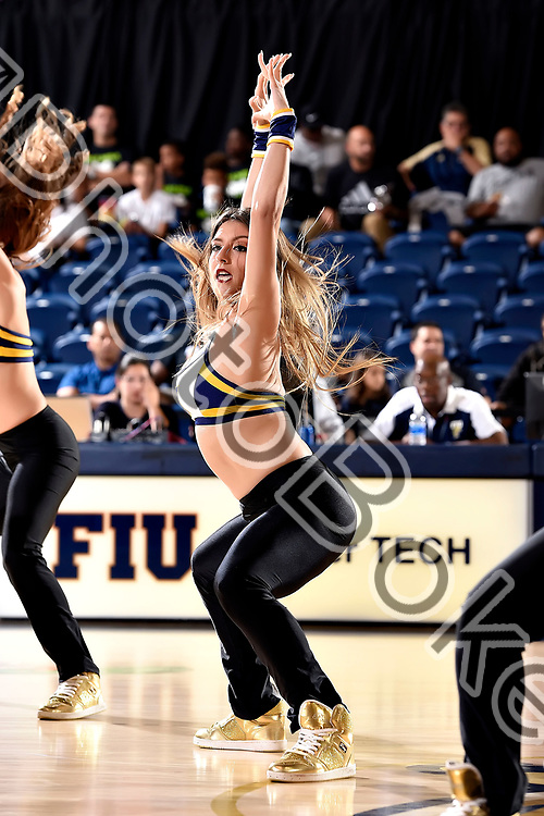 2017 November 10 - FIU Golden Dazzlers performing for the fans at Ocean Bank Convocation Center, Miami, Florida. (Photo by: Alex J. Hernandez / photobokeh.com) This image is copyright by PhotoBokeh.com and may not be reproduced or retransmitted without express written consent of PhotoBokeh.com. ©2017 PhotoBokeh.com - All Rights Reserved