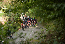 Annemiek van Vleuten being closely marked by Amy Pieters on lap two at Boels Rental Ladies Tour Stage 6 a 159.7 km road race staring and finishing in Sittard, Netherlands on September 3, 2017. (Photo by Sean Robinson/Velofocus)